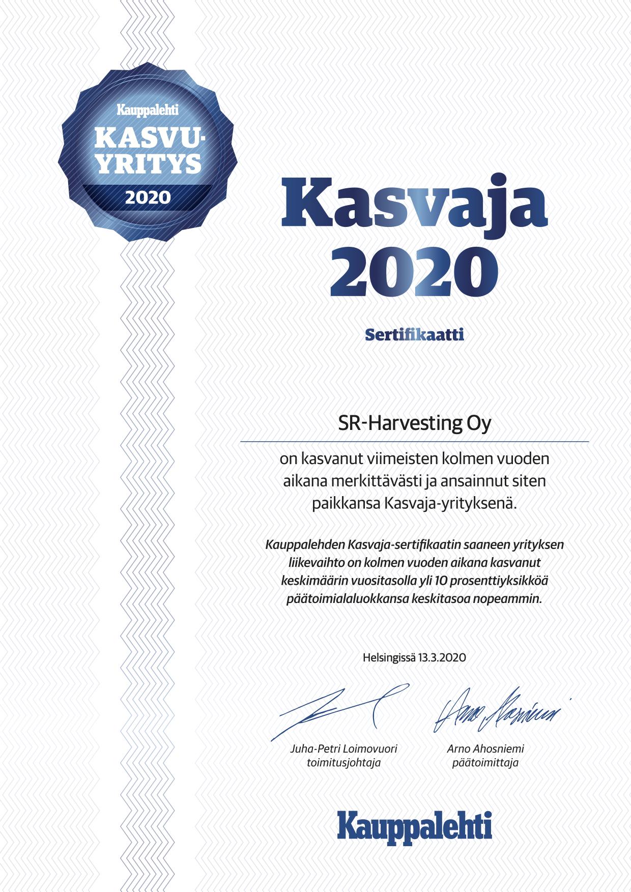 Kasvaja 2020